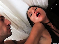 Omar Galanti cant wait any more to put his dick in dangerously sexy Nataly Golds mouth after she takes it in her butt