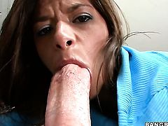 Brunette Madelyn Marie with bubbly bottom finds her pussy full of love juice after fucking