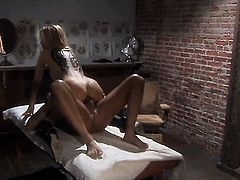 Jessica drake gets painted with man goo