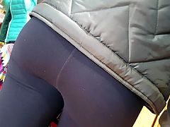 Lovely blue eye teen in Yoga pant