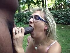 hs1 blond swallows a whole lot of bbc