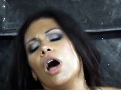 Cassandra Cruz has a great time playing with cum loaded cock