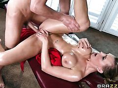 Bruce Venture explores the depth of enchanting Tanya Tates wet hole with his man meat