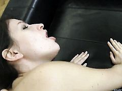 Rocco Siffredi pops out his meat stick to fuck Ann Marie C in the back porch after she gives mouth j