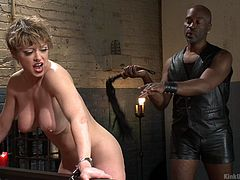 This white milf loves to be submissive and Master Hines know how to deal with such bitches. He whipped her boobs, tattooed back and firm ass, and she enjoyed the whole session. You must watch this instructional video, if you want to try spanking on your loved ones.