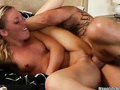 Derrick Pierce gets pleasure from fucking Ally Kay in her wet spot