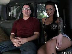 Christy Mack fucks in a van