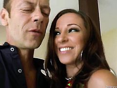 Jada Stevens warms Rocco Siffredi up and takes his schlong