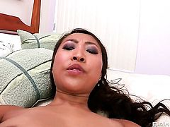 Sharon Lee with juicy melons gets impaled on Jordan Ashs rod in anal action