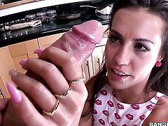 Blow job and anal in the kitchen