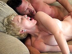 Dalny Marga with huge hooters is in the mood for ram rod sucking in oral action with Marco Banderas