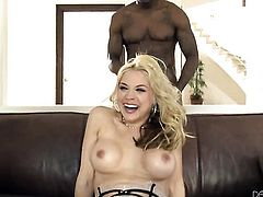 Sean Michaels plays hide the salamy with Sarah Vandella with gigantic breasts in steamy anal action