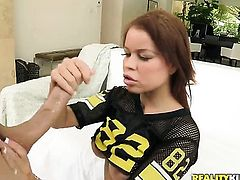 Naughty redhead Latina is having sex