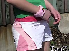 Russian teen lara Masturbating at the teach station