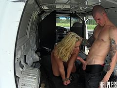 Keely Jones got stranded in the middle of nowhere. She got picked up by a man with big dick and she had to pay a price, to get to her destination. Her mouth got stuffed and she got fucked hard. She didn't complain much though. How could she? She is a dick swallowing whore after all.