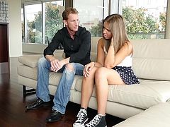 Attractive sexy chick Liza Roe gets her tight hairy love box fucked by her boyfriends father after she caught her boyfriend fucking another girl.
