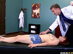 Penny Pax went to her doctor for a routine check. Little did she know she was ill and had to receive therapy. Illness was abstinence and cure was a big injection from doc's pants. She didn't hesitate and immediately put her mouth around that big rod. Girl gotta take care of her health, doesn't she?