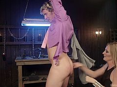 tied up, shocked and humiliated