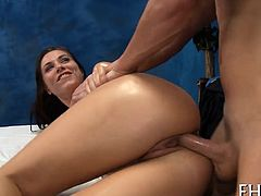 Lovely cutie fucked well in doggy