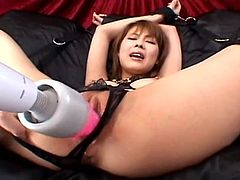 Sleazy Asian babe getting her wet pussy into some much needed predicaments. She loves the way the dudes stimulate her with those sex toys and it is all so amazing. Too cool for school.