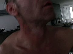 Latin Adriana Chechik sucks like a sex crazed animal in oral action with Rocco Siffredi after she gets fucked in her back porch
