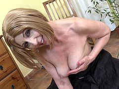 Danny is about sixty years old and at that age it is not easy to find herself a lover. But she does not give up. Again and again she gropes her pale saggy tits, hoping to find a hard cock for one night. She knows how to captivate!