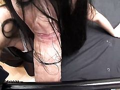 Nessa Devil gets mouth fucked with no mercy by Rocco Siffredi