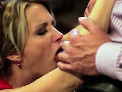 Hot blooded doll jessica drake gives throat job