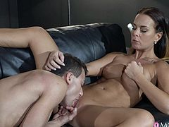 Alicia Wild is a sensual, hot and slutty milf. This gorgeous mature women with sexy curves, tits you want to suck on, ass you wanna tap, brings out the deepest primitive desires in a man. You just want to nail her tight pussy so hard. Gotta love milfs that make you want to cum all over them!