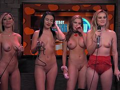 Andrea Lowell is your ever-gorgeous host of Playboy's Morning Show. There is talking and laughing, which you would expect from a morning show, but since it's Playboy, there's that little bit extra. An example would be the lovely nude ladies you see on the show, when you watch Playboy TV.