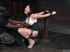 Husbands can't satisfy these pain loving sluts and these milfs always look for alternatives. Chanel Preston loves to experience pain, while fucking hard and she met Maestro and Jack Hammerx, to test her sexual limits. They really treated her like a slave, watch the whole fucking session to believe