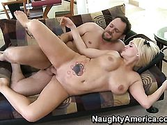Alec Knight loves always wet warm love hole of Anya Peacock with phat bottom and hairless twat
