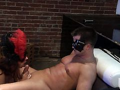 Raylene gives unforgettable headjob horny guy
