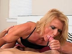Levi Cash and Amanda Verhooks are playing together. The blonde is giving a blow job while having her pussy licked in a 69 position. She has a flexible body.
