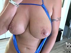 Eva Notty is one hot busty Milf that likes cock as the next one. The only difference is that she likes them big, black and hard up her tight wet pussy.