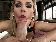Rocco Siffredi drills breathtakingly sexy Tanya Tates pretty face with his man meat