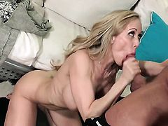 Blonde is having sex in office