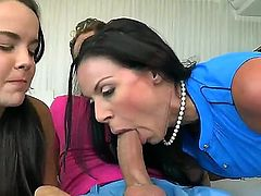 Kendra Lust gets into a wild threesome with Van Wilde and Dillion Harper. This is going to be real fun for this hot milf with huge tits getting licked and boned.