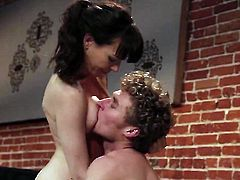 Dana DeArmond is in heat in steamy oral action with hot guy
