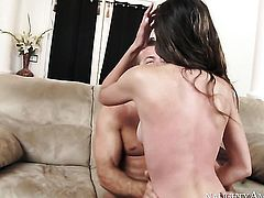 Brunette oriental Victoria Rae Black with small bottom and clean pussy takes the pop shot of her dreams