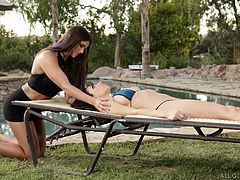 Massage is the best way to relieve stress and it enhances overall beauty also. Massaging is not always erotic, but if you are too lucky, your massaging session may end with intense orgasm. In this video, massaging session starts with head massage and took several turns to end as lesbian encounter.