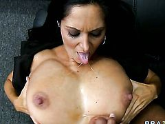 Ava Addams with giant breasts is wet as the ocean in this hardcore action with Rocco Reed