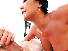 Jonni Darkko has unthinkable oral sex with Asian London Keyes