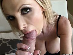 Rocco Siffredi uses his beefy schlong to bring blowjob addict Nikki Benz with gigantic hooters to the edge of nirvana