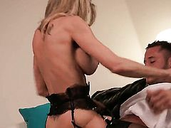 Good looking honey Brandi Love loves getting her face fucked by horny dude
