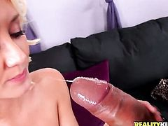 Blonde Roxxi Silver wants this blowjob session with hot fuck buddy to last forever