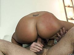 John Strong has a good time fucking juicy Layla Prices mouth before she gets her fudge packed