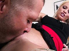 Vanda Lust satisfies guys sexual needs and then takes pop shot on her pretty face