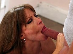 Gotta love redhead sluts that prefer to submit to big cocks. Darla loves to be controlled. She just adores when a man uses her body as he sees fit. Whether its taking of her shirt against her will and sucking on her tits, or making her kneel in front of massive dick to suck on. She loves submission!!