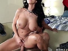 Ava Addams with massive breasts gives unbelievable sexual pleasure to hot guy Tyler Nixon